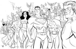 Раскраска супер герои
