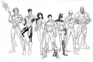 команда супергероев раскраска детская