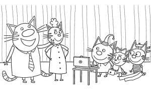 Три кота дома