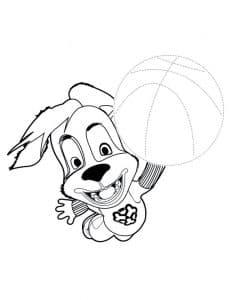 Дружок играть в баскетбол