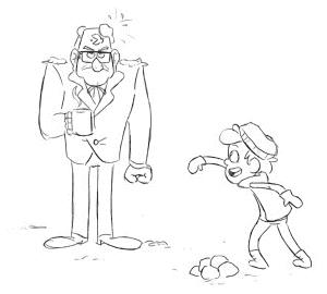 Стенли Пайнс и мальчик раскраска