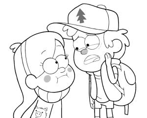 Диппер Пайнс с подружкой