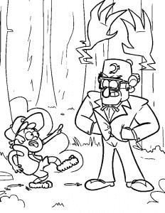 Диппер Пайнс в страшном лесу