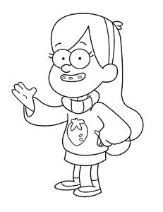 Мэйбл Пайнс раскраска детская