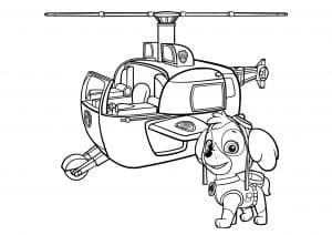 Скай возле вертолета