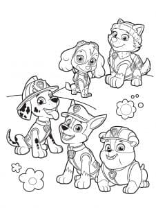 Вся команда щенячьего патруля