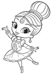 Шиммер в образе балерины