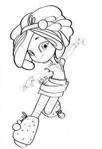 Девочка из сказочного патруля раскраска