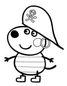 Раскраска Джордж пират