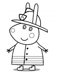 Свинка Пеппа в костюме пожарника