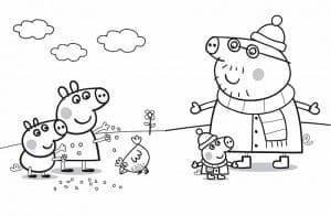 Семья свинки Пеппы на прогулке