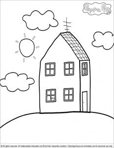 Дом свинки Пеппы раскраска