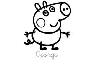 Раскраска Джордж