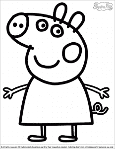 Раскраска свинка Пеппа