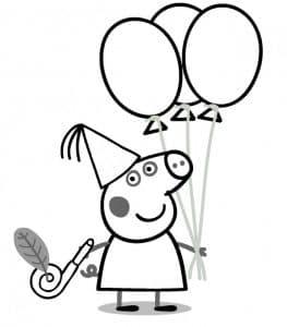 Свинка Пеппа с шариками