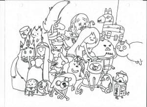 Раскраска Герои из Время приключений