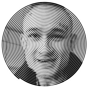 Раскрашенная картинка спиральная с Моргенштерном
