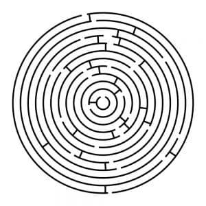 Простой черно-белый лабиринт