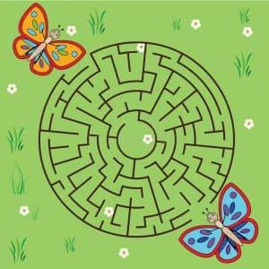 лабиринт с бабочками