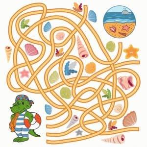 Цветной лабиринт для детей 5 лет