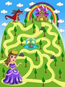 Красивый лабиринт для девочек 6 лет