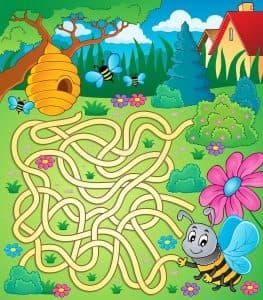 лабиринт для детей 8 лет