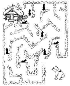 Распечатать лабиринт для детей 5 лет