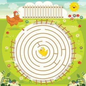 лабиринт для для детей 5 лет
