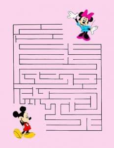 лабиринт с Микки Маусом