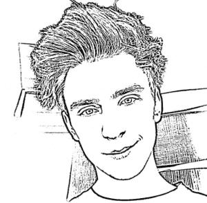 Раскраска с блогером Владом Бумагой А4
