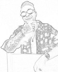 Раскраска Егор Крид улыбается