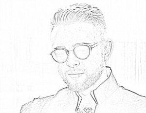 Раскраска Егор Крид в солнцезащитных очках