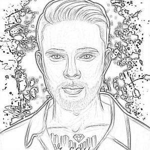 Раскраска Егор Крид распечатать формат А4