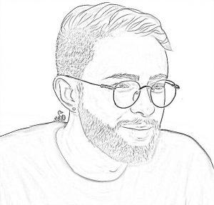 Раскраска Егор Крид в очках