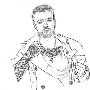 Картинка раскраска Егор Крид