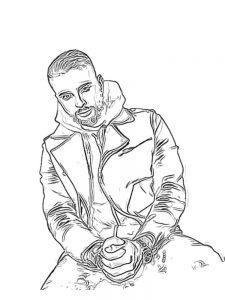 Распечатать бесплатную раскраску Егор Крид