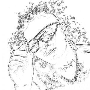 Раскраска Элджей в очках
