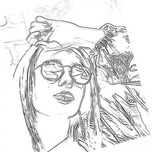 Рисунок простым карандашом Клава Кока