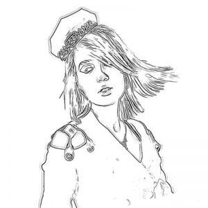 Рисунок карандашом Клава Кока