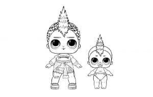 Куколки лол с ирокезом