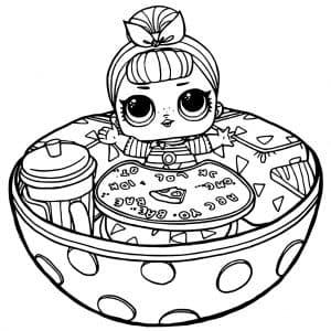 Кукла Лол в яйце раскраска