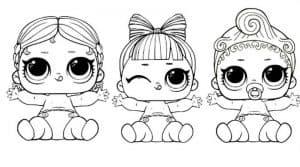 Три маленькие куколки лол