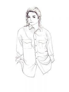 Раскраски с Майклом Джексоном бесплатно А4