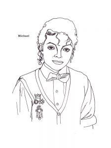 Раскраски с Майклом Джексоном в формате А4