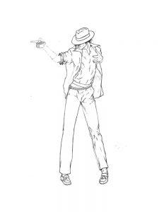 Прикольные раскраски с Майклом Джексоном