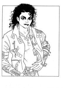 Скачать Раскраски с Майклом Джексоном