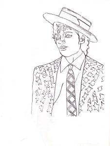 Бесплатные Раскраски с Майклом Джексоном