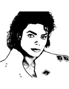 Раскраски с Майклом Джексоном