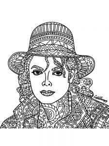 Раскраска-узоры с Майклом Джексоном