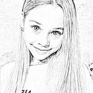 Раскраски с Миланой Некрсовой из Лайка